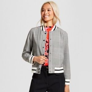 Who What Wear Jackets & Coats - Who What Wear Plaid Bomber Varsity Jacket 3X